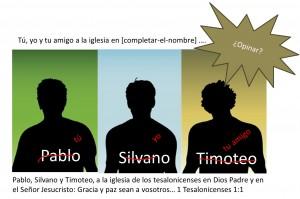 Pablo Silvano y Timoteo, o tú, yo y tu amigo